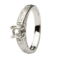 Image for Coleen 14kt White Gold Round Cut Engagement Ring SETTING ONLY
