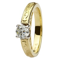 Image for Coleen 14kt Yellow and White Gold Round Cut Engagement Ring