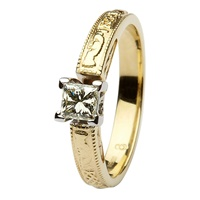 Image for Coleen 14kt Yellow and White Gold Princess Cut Engagement Ring