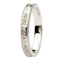 Image for Coleen 14kt White Gold Wedding Band