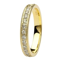 Image for Aishlin 14kt Yellow Gold and Diamond Wedding Band
