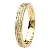 Image for Coleen 14kt Yellow Gold and Diamond Wedding Band