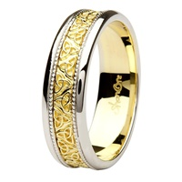 Image for Aishlin 14kt White/Yellow Gold Gents Wedding Band
