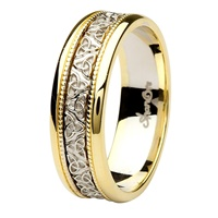 Image for Aishlin 14kt Yellow/White Gold Gents Wedding Band