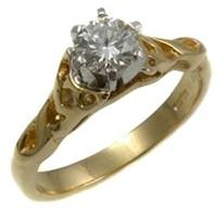 Image for 14k Gold Diamond Celtic Diamond Ring SETTING ONLY
