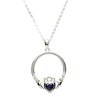 Claddagh Birthstone Pendant, September