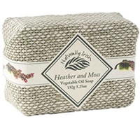 Image for Naturally Irish Heather and Moss Linen Wrapped Soap