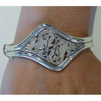 Image for Sterling Silver Celtic Bangle