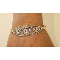Image for Rolled Gold Two Tone Celtic Bangle