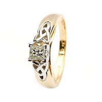 Image for 14kt Yellow & White Gold .50ct Princess Diamond Ring