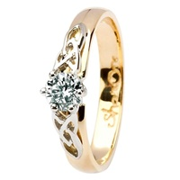 Image for 14kt White & Yellow Gold .33ct Trinity Round Diamond Ring
