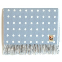 Image for Baby Lambswool Blue Spot Blanket