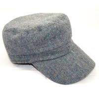 Image for Hanna Hat Blue Multi Tweed Donegal Bay Cap