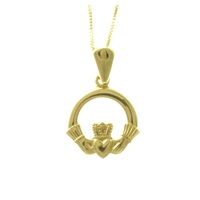 Image for 14K Yellow Gold Claddagh Pendant, Small