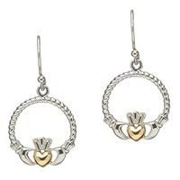 Image for Sterling Silver Claddagh Earrings