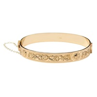 Image for Celtic Warrior Rolled Gold Bangle Bracelet