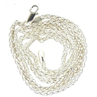 """Image for Sterling Silver 24"""" Wheat Chain Rhodium Finish 2.4mm"""