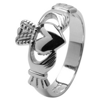 Image for 14K White Gold Gents Heavy Claddgah Ring