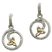 Image for Celtic Twirl Diamond Set Earrings
