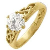 Image for Celtic Engagement Ring In All Yellow MOUNT ONLY NO STONE