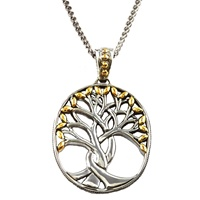 Image for Keith Jack Tree of Life Sterling Silver and 18K Gold