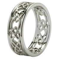 Image for Sterling Silver Trinity Knot Open Weave Ring
