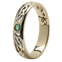 Image for Ladies Pressure set Emerald and Diamonds set Wedding Ring