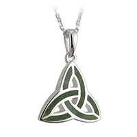 Image for Sterling Silver Marble Trinity Pendant