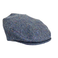 Image for Hanna Grey Tweed Vintage Snap Cap, Small