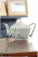 Image for Belleek Harp Shamrock Teapot