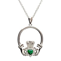 Image for Cubic Zirconium Retro Claddagh