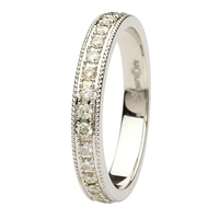 Image for Aishlin 14kt White Gold and Diamond Wedding Band