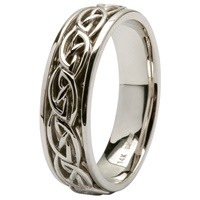 Image for 14Kt White Gold Celtic Design Wedding Ring