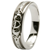 Image for White Gold Claddagh Wedding Ring