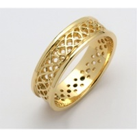 Image for Mens 14K Yellow Gold Sheelin Celtic Pierced Wedding Band