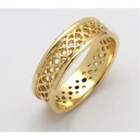 Image for Mens 14K Yellow Gold Sheelin Celtic Pierced Wedding Band