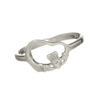 Image for Floating Heart Claddagh Ring