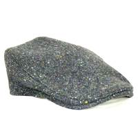 Image for Hanna Hat Tweed Donegal Touring Cap, Grey