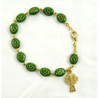 Image for Irish Shamrock Rosary Bracelet