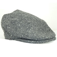 Image for Hanna Vintage Snap Flat Cap, Grey Salt and Pepper