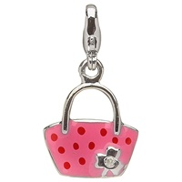 Image for Little Miss Shamrock Diamond Purse Charm, Pink