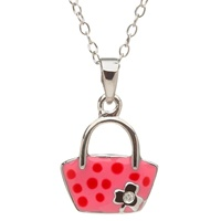 Image for Little Miss Shamrock Diamond Purse Pendant, Pink