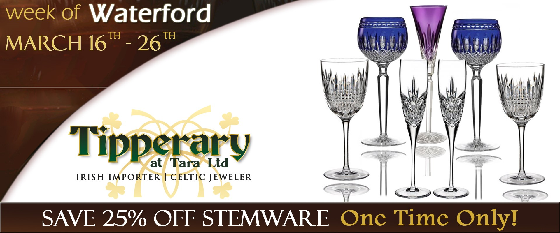 Waterford Stemware Sale