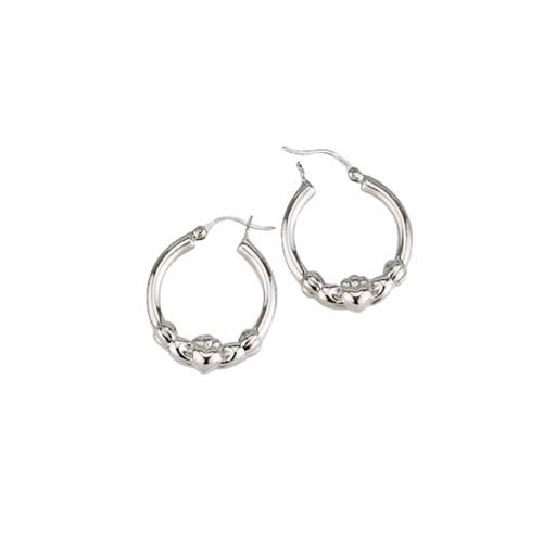 Image for Claddagh Hoop Earrings