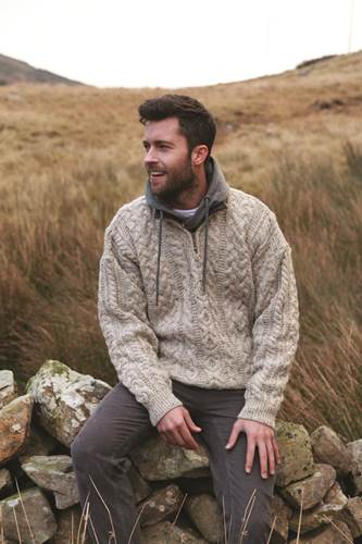 Image for Worsted Wool Quarter Zip Pullover Sweater
