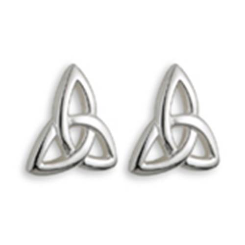 Image for Solvar Sterling Silver Kids Trinity Stud Earrings