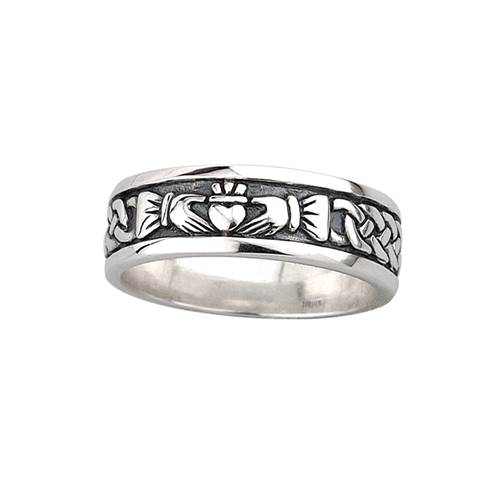 Image for Sterling Silver Gents Claddagh Band