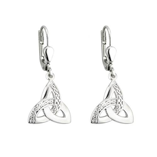 Image for Trinity Celtic Knot Dangle Earrings