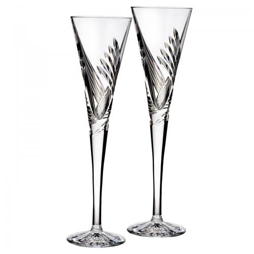 Image for Waterford Wishes Beginnings Toasting Flute, Pair