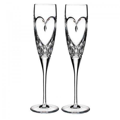 Image for Waterford True Love Toasting Flute, Pair